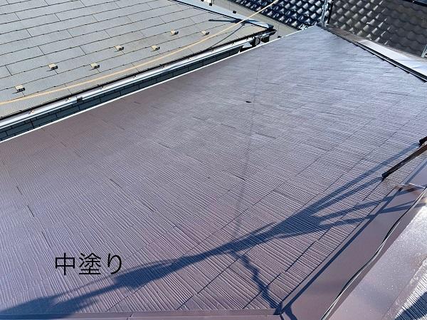 神奈川県相模原市 屋根塗装 中塗り・上塗り 重ね塗りをする理由 ルミフロン (1)
