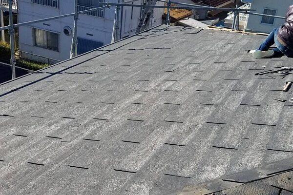 神奈川県横浜市 K様邸 屋根葺き直し工事 板金工事 化粧スレートとは 施工前の状態