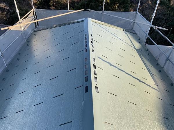 神奈川県横須賀市 M様邸 屋根塗装 ニッペ ファインパーフェクトベスト 雪止め (3)